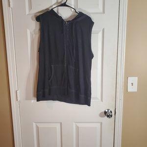 Plus size active wear vest